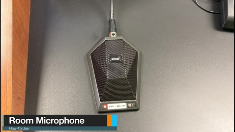 Thumbnail for entry Type 1 Classrooms - Room Microphone