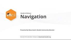 Thumbnail for entry Moodle 2.9 Release Highlights: Navigation
