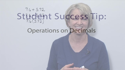 Thumbnail for entry Module 05 Operations on Decimals