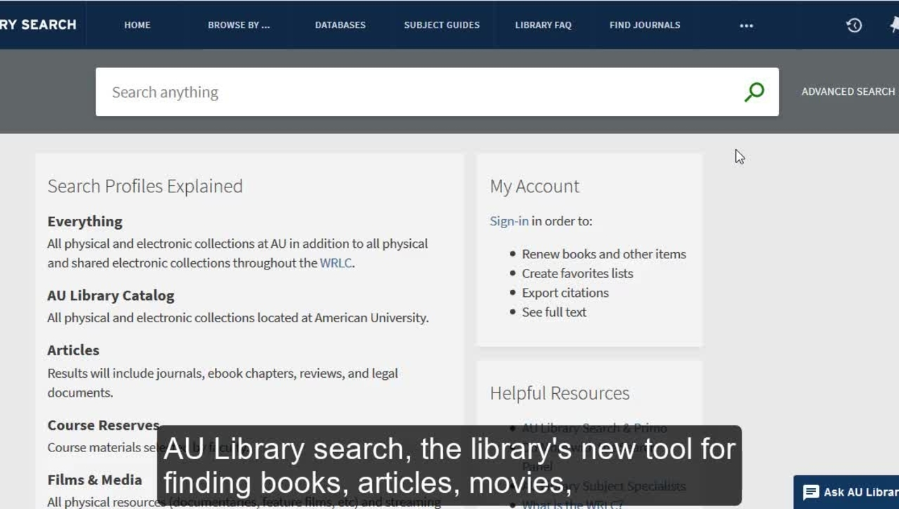 How to Use AU Library Search: Quick Overview