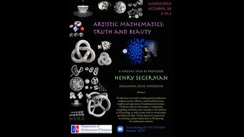 Thumbnail for entry 2020 Halloween Talk: Artistic Mathematics-edited
