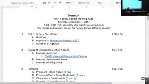 Faculty Senate Meeting 1
