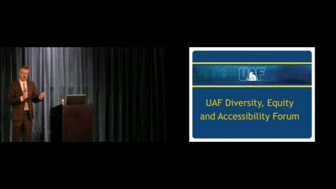 Thumbnail for entry Chancellor's Forum on Diversity and Accessibility 1