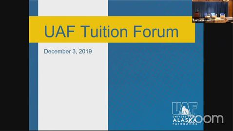 Thumbnail for entry Chancellor's Forum on Tuition 12/03/2019