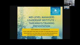 Thumbnail for entry Mid-level Managers Leadership Institute: Takeaways/Training Overview (BBPDS)