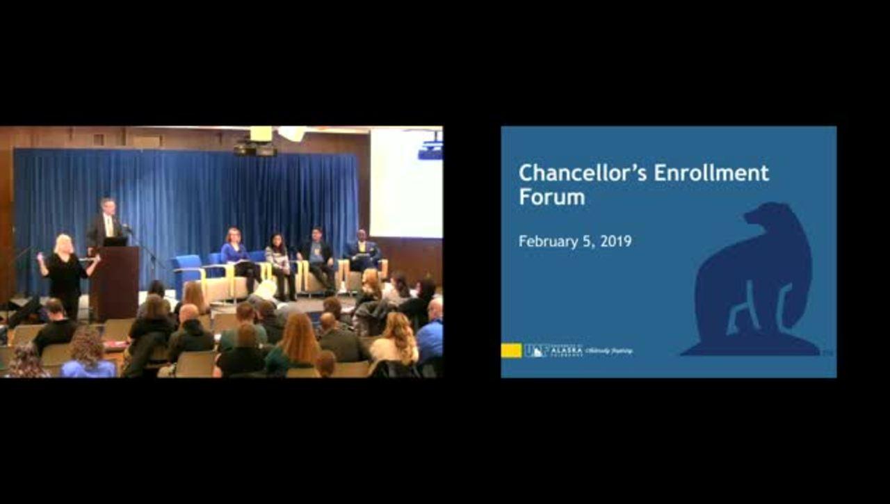 Chancellor's Forum on Enrollment - Feb 5, 2019