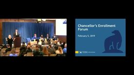 Thumbnail for entry Chancellor's Forum on Enrollment - Feb 5, 2019