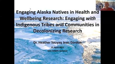 Thumbnail for entry One Health Seminar: Dr. Heather J. Gordon