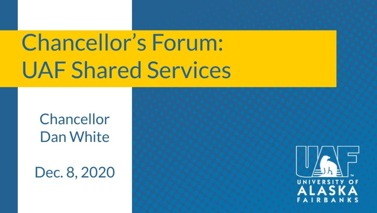 Chancellor's Forum on Shared Services
