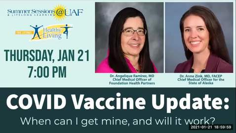 Thumbnail for entry Virtual Healthy Living Forum: COVID Vaccination Update