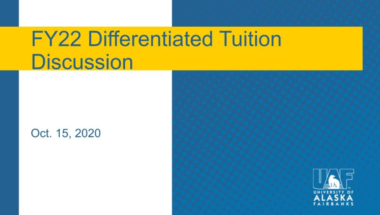Chancellor's Forum on FY22 Differentiated Tuition