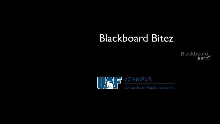 Blackboard Bitez: Discussion Board Course Link