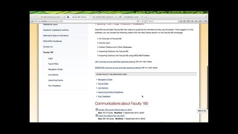 Thumbnail for entry 09-08-2015 UAF training webinar on Faculty180