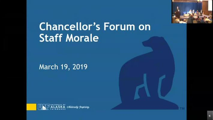 Chancellor's Forum on Staff Morale - March 19th, 2019