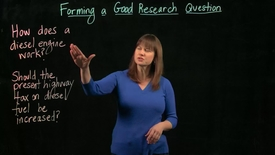 Thumbnail for entry Forming a Good Research Question
