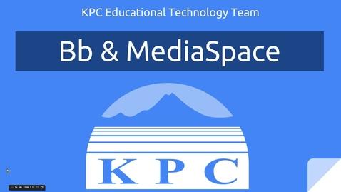 Thumbnail for entry Blackboard & MediaSpace