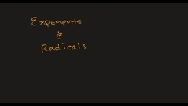 Thumbnail for entry MATH F151 –  Exponents and Radicals.mp4