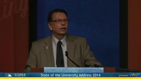 Thumbnail for entry 2014 State of the University Address
