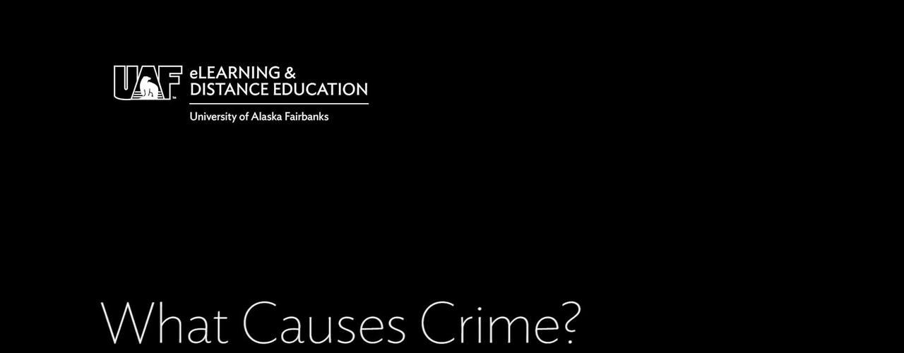 What Causes Crime - 1-18 - Quiz
