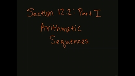 Thumbnail for entry MATH F151 – Section 12.2  Part I, Arithmetic sequences