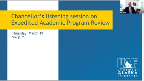 Thumbnail for entry Expedited Academic Program Review