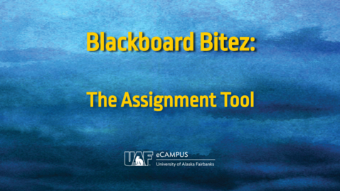 Thumbnail for entry Blackboard Bitez: The Assignment Feature