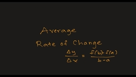 Thumbnail for entry MATH F151 –  Average Rate of Change.mp4