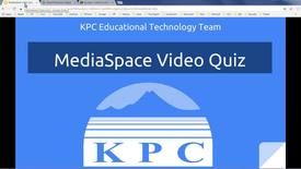 Thumbnail for entry MediaSpace Video Quiz