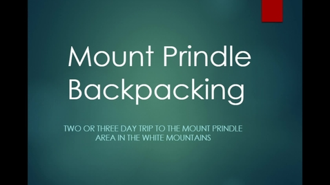 Thumbnail for entry Mount Prindle Backpacking
