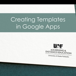 Thumbnail for channel UAF eLearning Google Apps for Education