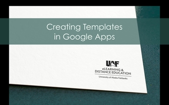 Creating Templates With Google Apps ITeachU - Google apps templates