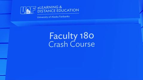 Thumbnail for entry Faculty 180 Crash Course
