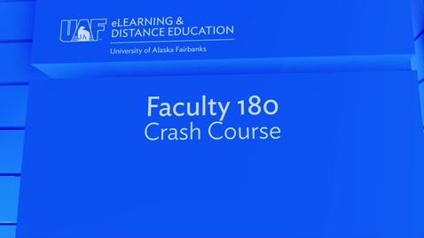 Thumbnail for entry Faculty 180 Crash Course