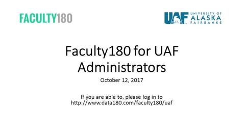 Thumbnail for entry Faculty 180 Training For Administrators