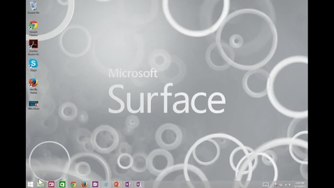 Thumbnail for entry Screencasting Demo from Microsoft Surface
