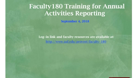Thumbnail for entry 2018-09-04 Faculty180 Training