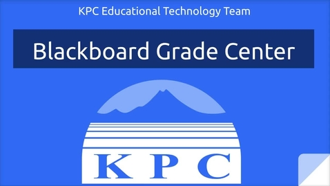 Blackboard Grade Center Basics
