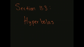 Thumbnail for entry MATH F151 – Section 11.3  Hyperbolas.mp4