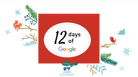 Thumbnail for entry #facdev 12 Days of Google - Chrome Exensions and Apps