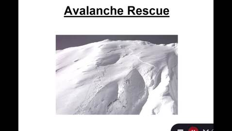 Thumbnail for entry Avalanche Rescue Clinic Classroom