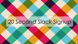 Thumbnail for entry Signing up for Slack