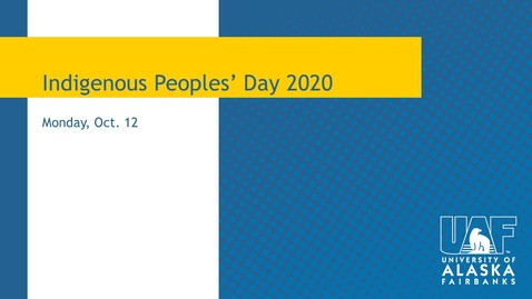 Thumbnail for entry Indigenous Peoples' Day 2020