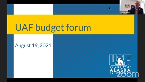 Thumbnail for entry Chancellor's forum on the budget