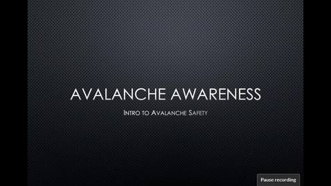 Thumbnail for entry Avalanche Awareness Clinic