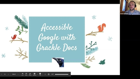 Thumbnail for entry #facdev 12 Days of Google - Accessibility with Grackle Docs