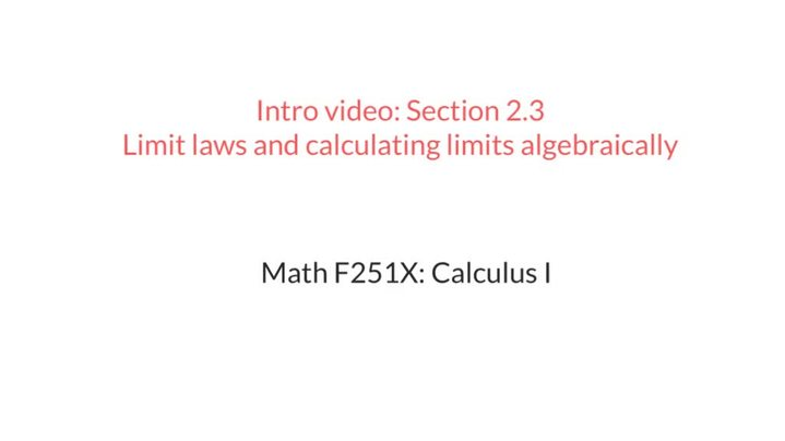 Thumbnail for channel Math F251X Calculus I