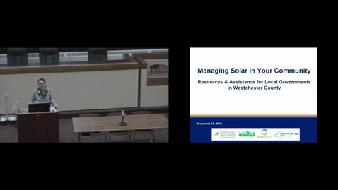 Thumbnail for entry Managing Solar in Your Community - 12-14-18