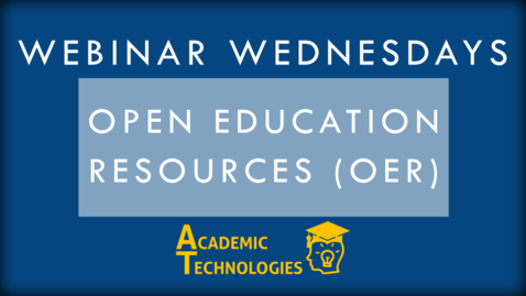 Thumbnail for entry Open Education Resources