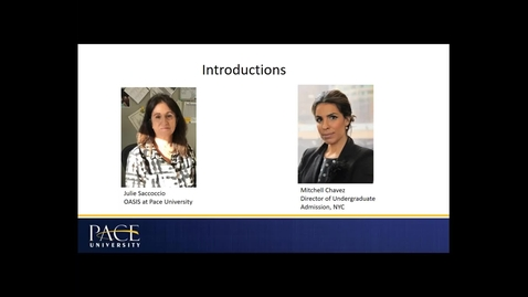 Thumbnail for entry The OASIS Program at Pace University (Exclusive Webinar)