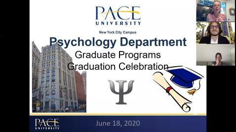 Thumbnail for entry Graduate Psychology NYC Graduation Celebration 2020